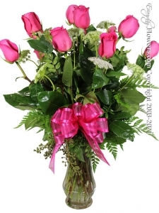12 Long Stem Pink Roses