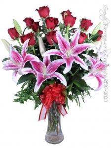 Dozen Valentines Roses Wi