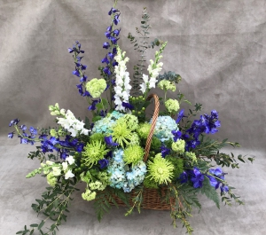 Blue And Green Basket