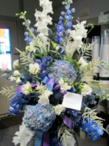Hydrangea Blue & White