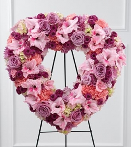 The Ftd Eternal Rest Heart Wreath