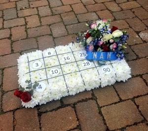 Bingo Card Funeral Tribut