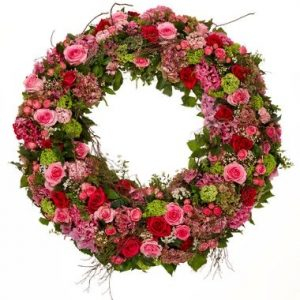 Pink & Red Wreath
