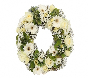 12 Inch Luxury Pure White Wreath