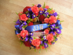 "12"" Wreath With Ribbon"