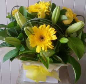 Box Of Yellow Flowers