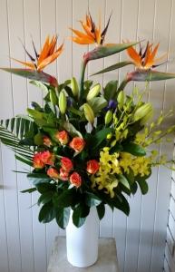 Vase Of Birds Of Paradise
