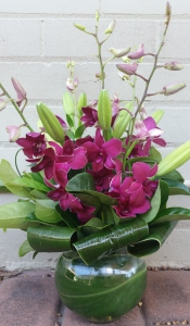 Purple Orchid Fishbowl