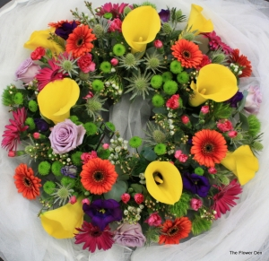 Circular Wreath Of Colour