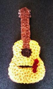 Guitar In Flowers