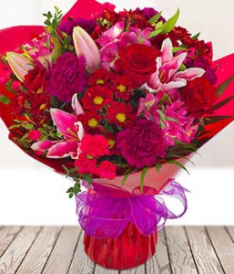 Bright Pink & Red Flowers