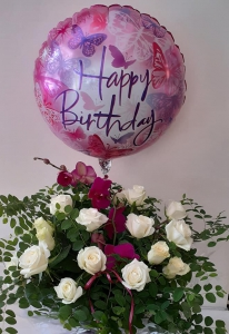 Box Of Rose And Balloon