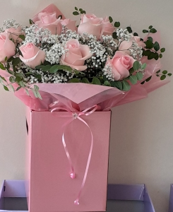 Pink Roses With Gyp