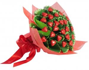 Two Dozen Hearts Flower Bouquet