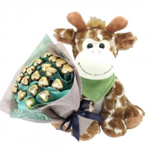Giraffe Snuggles Baby Pos