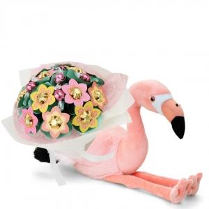 Pink Flamingo Baby Flower