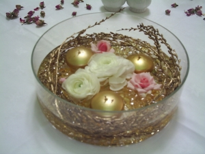 Floating Gold Wedding