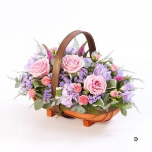 Mixed Basket Pink & Lilac