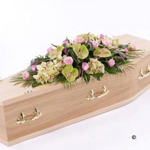 Rose,orchid&calla Casket