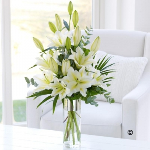 Scented Lily Vase