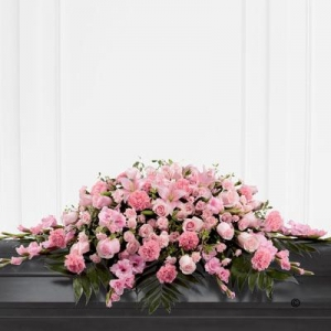 Mixed Casket Spray Pink