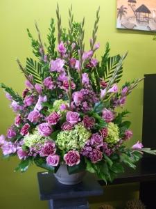 Sympathy Flowers Purple