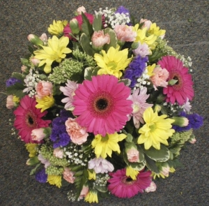 Bright Mixed Funeral Posy