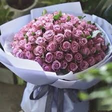 99 Stems Purple Roses