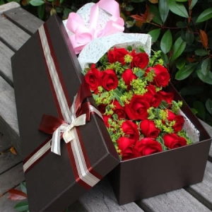 Red Roses In The Box