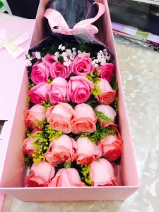 Pink Roses In The Box