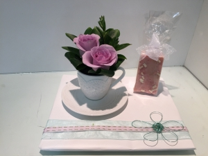 Floral Teacup With Fudge