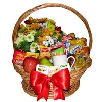 Coffee Flowers Basket