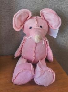 Pink Plush Mouse