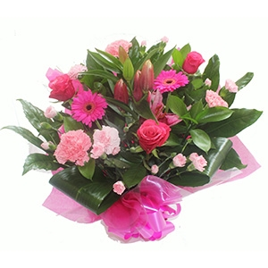Pink Roses & Carnations