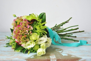 Green And Blush Bouquet