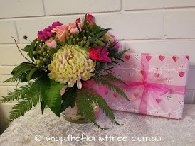Pink Flowers & Chocolates