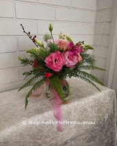 Pink Posy In A Jar