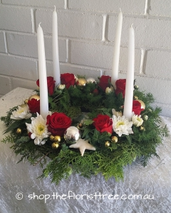 Wreath With Candles