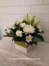 White Mixed Flower Box