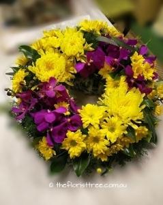 Yellow Purple Wreath