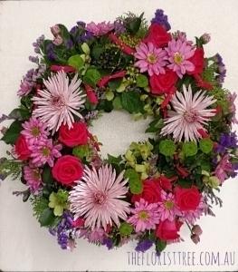 Pink Disbud Wreath