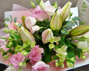 White Lilies & Pink