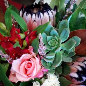 Textured Protea bouquet