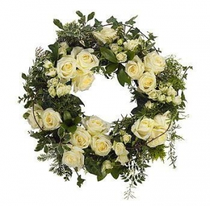 White Country Wreath