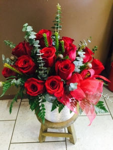 Rose Arrangement Red