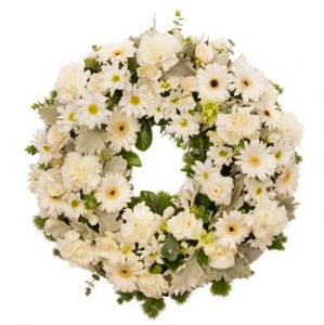 Wreath Sympathy All White