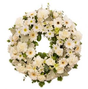 Wreath Sympathy All White