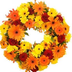 Wreath Sympathy Vibrant