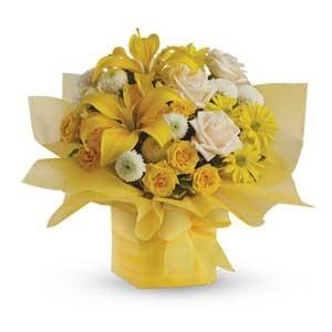 Box Bouquet Sunshine
