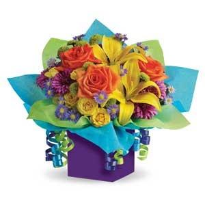 Box Bouquet Rainbow